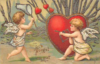 val300001 - Forget me Not Valentines Day Postcard