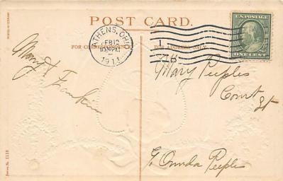 val300041 - To my Valentine Postcard  back