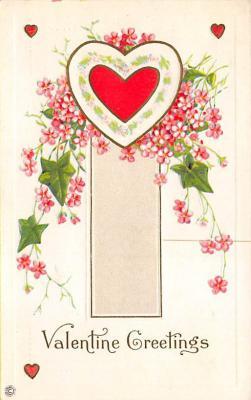 val300081 - Valentine Greetings Postcard
