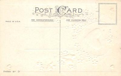 val300081 - Valentine Greetings Postcard  back