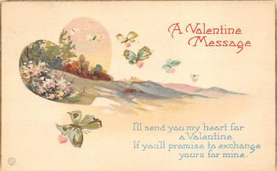 val300109 - A Valentines Message Postcard