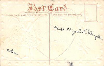 val300407 - To My Valentine Postcard  back