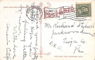 val300485 - Valentine Greeting Postcard  back