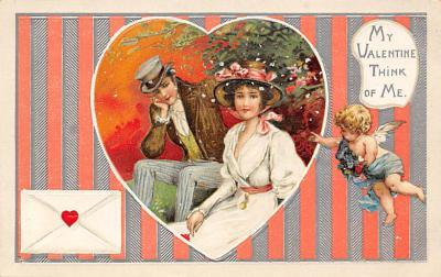 val300509 - My Valentine think of me Postcard