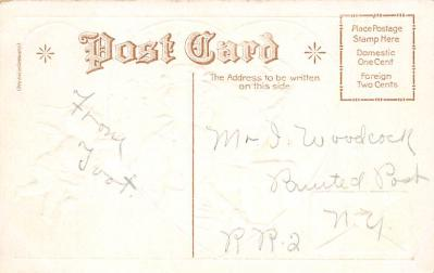 val300509 - My Valentine think of me Postcard  back