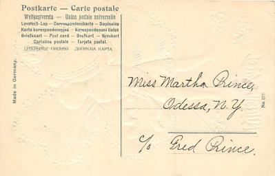 val300575 - Valentines Day Postcard  back