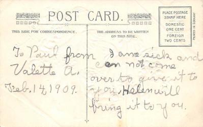 val300577 - Valentines Day Postcard  back