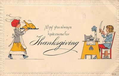 val300683 - Thanksgiving Day Postcard