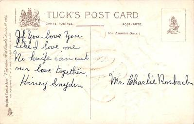 val300729 - Valentines Day Postcard  back