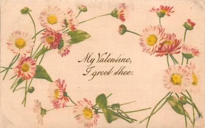 val310475 - Silk Material, John Winsch Publishing St. Valentines Day Postcard