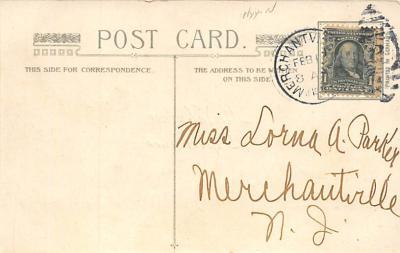 val310475 - Silk Material, John Winsch Publishing St. Valentines Day Postcard  back