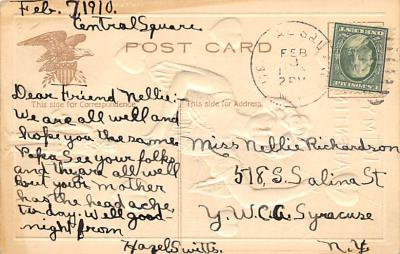val310501 - St. Valentines Day Postcard  back