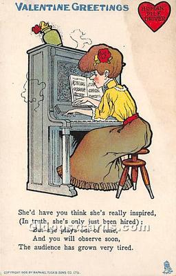 vin001058 - Vinegar Valentine Post Cards, Old Vintage Antique Postcards