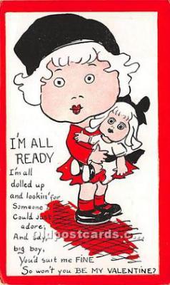 vin001088 - Vinegar Valentine Post Cards, Old Vintage Antique Postcards