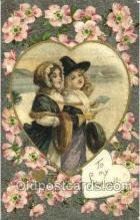 val001246 - Silk Valentine Day Postcard Post Card Old Vintage Antique