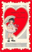 val002001 - Valentines Day Post Cards Old Vintage Antique Postcards