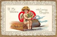 val002002 - Valentines Day Post Cards Old Vintage Antique Postcards