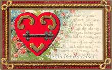 val002005 - Valentines Day Post Cards Old Vintage Antique Postcards