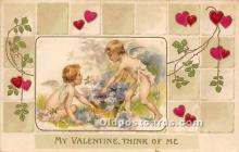 val002007 - Valentines Day Post Cards Old Vintage Antique Postcards