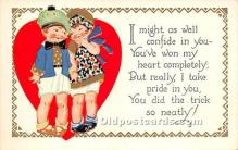 val002009 - Valentines Day Post Cards Old Vintage Antique Postcards