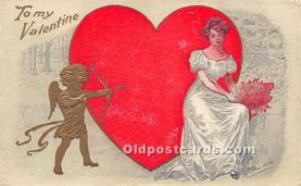 val002010 - Valentines Day Post Cards Old Vintage Antique Postcards