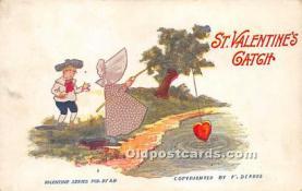 val002015 - Valentines Day Post Cards Old Vintage Antique Postcards