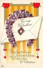 val002016 - Valentines Day Post Cards Old Vintage Antique Postcards