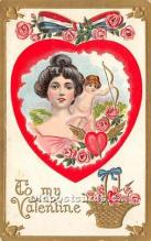 val002020 - Valentines Day Post Cards Old Vintage Antique Postcards