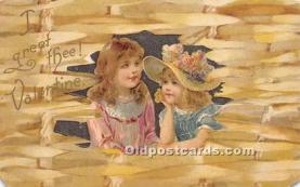 val002021 - Valentines Day Post Cards Old Vintage Antique Postcards