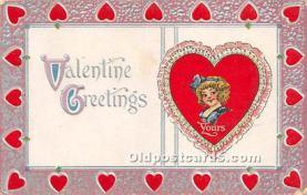 val002022 - Valentines Day Post Cards Old Vintage Antique Postcards