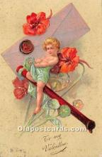 val002024 - Valentines Day Post Cards Old Vintage Antique Postcards