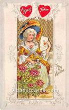 val002027 - Valentines Day Post Cards Old Vintage Antique Postcards