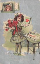 val002028 - Valentines Day Post Cards Old Vintage Antique Postcards