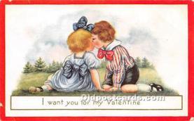 val002031 - Valentines Day Post Cards Old Vintage Antique Postcards