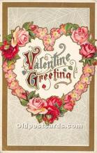 val002037 - Valentines Day Post Cards Old Vintage Antique Postcards