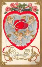 val002041 - Valentines Day Post Cards Old Vintage Antique Postcards