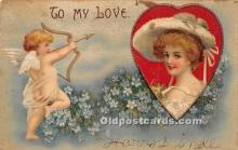 val002042 - Valentines Day Post Cards Old Vintage Antique Postcards