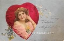 val002047 - Valentines Day Post Cards Old Vintage Antique Postcards