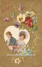 val002054 - Valentines Day Post Cards Old Vintage Antique Postcards