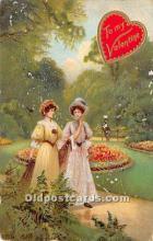 val002062 - Valentines Day Post Cards Old Vintage Antique Postcards