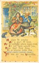 val002064 - Valentines Day Post Cards Old Vintage Antique Postcards