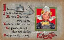 val002080 - Valentines Day Post Cards Old Vintage Antique Postcards