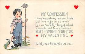 val002081 - Valentines Day Post Cards Old Vintage Antique Postcards
