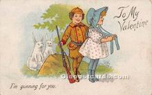 val002083 - Valentines Day Post Cards Old Vintage Antique Postcards