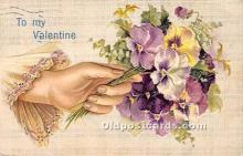 val002089 - Valentines Day Post Cards Old Vintage Antique Postcards