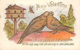val002100 - Valentines Day Post Cards Old Vintage Antique Postcards
