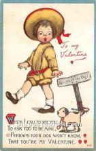 val002101 - Valentines Day Post Cards Old Vintage Antique Postcards