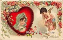 val002102 - Valentines Day Post Cards Old Vintage Antique Postcards