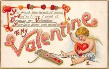 val002107 - Valentines Day Post Cards Old Vintage Antique Postcards