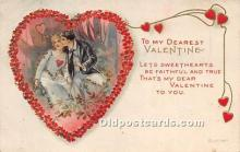 val002110 - Valentines Day Post Cards Old Vintage Antique Postcards